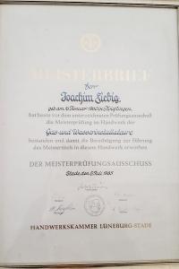 Meisterbriefe Joachim Fiebig